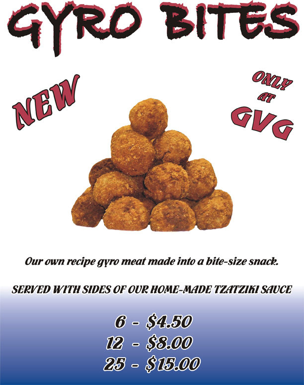 NEW Gyro Bites! Only at GVG!